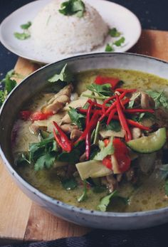 Thai grön curry med kyckling