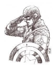Hasil Gambar Untuk Sketsa Captain America
