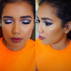 Prom makeup cut crease