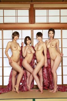 Nude asian women together