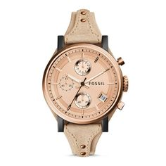 awesome Montre pour femme : Original Boyfriend Chronograph Leather Watch – Sand