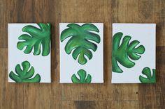 Quadros+decorativos:+como+pintar+folhas