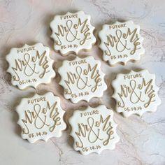 Future Mr. & Mrs. #customcookies #engagementcookies #weddingcookies…