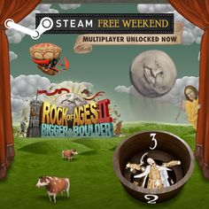 Rock of Ages 2 is having a Free Multiplayer Weekend on Steam! The tutorial level is free to try as well, so you can learn the ins and outs of the game before taking on the competition. Have fun! And it's 50% off! #ACETeam #AtlusUSA #Atlus #AtlusGames #Gaming #VideoGames #VideoGame #GameDev #GameDevelopment #IndieDev #IndieGame #IndieGames #PCGame #PCGames #Steam #TowerDefense #Racing #RacingGame #RoA2 #RockOfAgesII #RockOfAges2