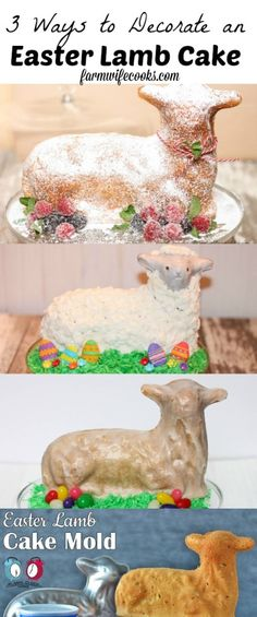 3 Ways to decorate an Easter Lamb Cake. Make the perfect cake on Easter with this how to guide. An idea for every skill level. 3 Ways to decorate an Easter Lamb Cake. Make the perfect cake on Easter with this how to guide. An idea for every skill level. Easter Bunny Cake, Easter Lamb, Easter Treats, Easter Food, Easter Cookies, Easter Dinner, Easter Brunch, Easter Party, Easter Recipes