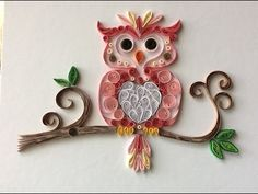 Quilling papel owl - YouTube