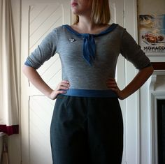 Colette Moneta sweater (tutorial on the Coletterie blog)! #sewing
