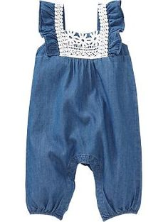 Chambray Rompers for Baby | Old Navy
