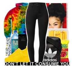 """""""I'm getting weak, you're getting stronger"""" by babygirl-10 ❤ liked on Polyvore featuring adidas Originals, MANGO and J Brand"""