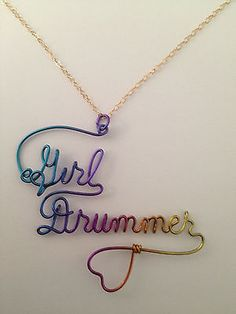 Personalized Name Jewelry Charm Necklace Niobium Wire Double Name 2 Names Heart