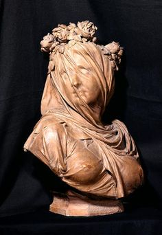 Albert-Ernest Carrier-Belleuse, Veiled Vestal, Museum of Art and Archaeology of Laon. Second Empire, Architectural Antiques, Art Forms, Archaeology, Terracotta, Art Museum, 19th Century, Bronze, Pottery