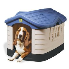 Outdoor Dog House Medium Pet Kennel Insulated All Weather Plastic Shelter  Cage #CottageDogHouse