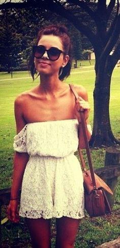 cute short summer dress - sunglasses and purse