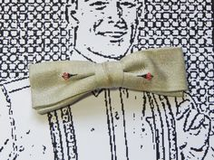 Vintage Bowtie Silver Celery Black Red Accents 50's 60's Mid Century Men's Fashion Hipster Suit Accessory Clip Bow Tie Best Clip by OffbeatAvenue on Etsy
