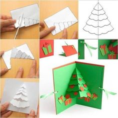 How to make a handmade Christmas tree pop-up greeting card Show someone you care about them by spending a. The post The Perfect DIY Christmas Tree Pop up Greeting Card appeared first on The Perfect DIY. Diy Christmas Cards Pop Up, Homemade Christmas Cards, Christmas Greeting Cards, Christmas Greetings, Greeting Cards Handmade, Handmade Christmas, Christmas Crafts, Christmas Trees, Crochet Christmas