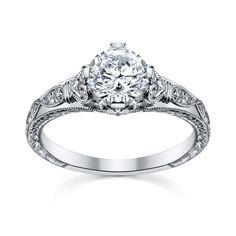 Platinum Diamond Engagement Ring Setting love this