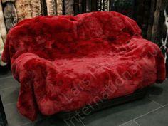 1100-Red-rabbit-fur-blanket-genuine-fur-throw