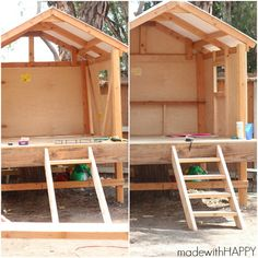 This post was brought to you by our friends Thompsons WaterSeal, but all opinions are my own HAPPY thoughts. We are so HAPPY to continue in our How to Make a HAPPY Treehouse…