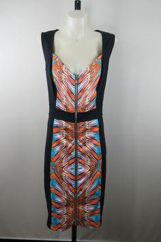 Plus Size S / 16 City Chic Ladies Zip Dress Business Office Racing Cocktail Wear