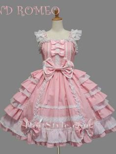 Cotton Pink Ruffles Sweet Lolita Dress