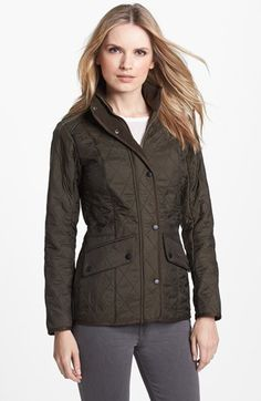 Gypsy Autumn Romance | Serafini Amelia| Barbour 'Cavalry' Quilted Jacket available at #Nordstrom