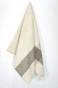 Our virgin wool blankets are made in the beautiful mountainous, pine tree-filled region of Central Mexico using the highest quality softest wool.The designs are beautiful, modern and subtle. All styles are made with natural undyed, untreated wool, in soft shades of creams and grey. Any slight imperfections you might come across in the blankets are due to the delicate hand-processing of the wool. The sheep are herded in the open mountain ranges, in the traditional manner, with shepherd dogs…