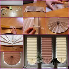 How to Make Pull-Up Paper Window Shade tutorial and instruction. Follow us: www.facebook.com/fabartdiy