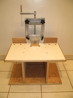 Horizontal Router Table Plans |