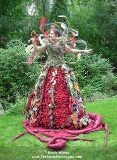 Perelandra- A Fantasy Fiber Art Sculptural Dress. $10,000.00, via Etsy.