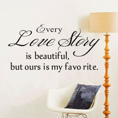 "Quote""Love Story"" Vinyl DIY Wall Decal Art Sticker Home Decor Lettering Words #Unbranded #LoveStory"