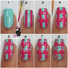 Beauty Tip: DIY Nails Art / DIY Houndstooth Nail - Fereckels