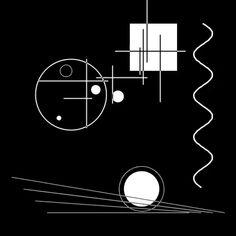 French artist Etienne Jacob creates artistic black and white gif art. You can see more of his work on Behance. Bauhaus Interior, Architecture Bauhaus, Wassily Kandinsky, Art Bauhaus, Bauhaus Design, Cover Design, Design Art, Logo Design, Generative Kunst