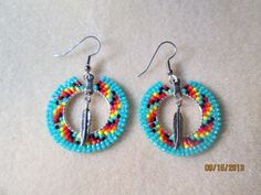 Items similar to Handmade seed bead Native style beaded earrings on Etsy Beaded Earrings Patterns, Seed Bead Earrings, Boho Earrings, Earrings Handmade, Beaded Jewelry, Crochet Earrings, Indian Beadwork, Jewelry For Her, Native Style