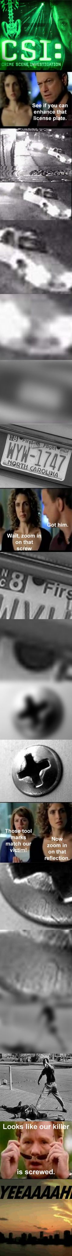 CSI Enhance Numberplate