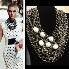 Tom Binns inspired necklace by BlackPearlCouture on Etsy