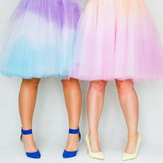 Learn how to make these two tone ombre tulle skirts.