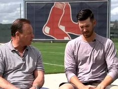 Butch Stearns and Rick Porcello 1-on-1