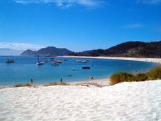 Rodas Beach, Vigo, Spain. Spent a week on this beach. Pure relaxation. Even the cops ride mopeds.