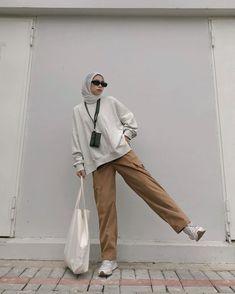 Stylish Hijab, Modest Fashion Hijab, Modern Hijab Fashion, Street Hijab Fashion, Casual Hijab Outfit, Hijab Fashion Inspiration, Casual Outfits, Fashion Outfits, Swag Outfits