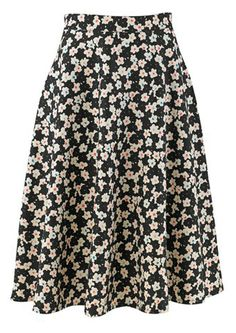 Flared Floral Skirt Size 8