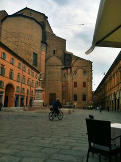 """""""View from our cafe table in Piazza Galvani, *happy sigh* with the blogville babes"""" by @SuuperG"""