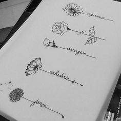 Forget Me Nots Flower Tattoo by Pis Saro botanical tattoo artist #TattooIdeasStrength