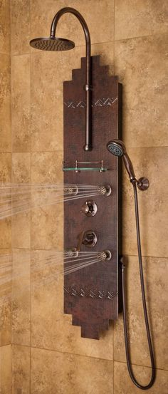 Pulse Shower Spas Navajo PULSE Shower Spa, for my dream home! Guest Bathrooms, Dream Bathrooms, Bathroom Ideas, Beautiful Bathrooms, Cabin Bathroom Decor, Log Cabin Bathrooms, Western Bathroom Decor, Bathrooms Decor, Decorating Bathrooms