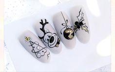 Acrylic Nails Chrome, Best Acrylic Nails, Nail Art Designs Videos, Gel Nail Designs, Xmas Nails, Christmas Nails, Moon Nails, Top Nail, Nail Designs Spring