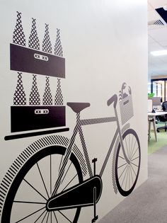 THERE Design Lazer cut environmental wall graphics http://there.com.au/work/singapore_creditsuisse_offices