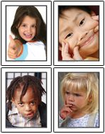 Facial Expressions Photographic Learning Cards