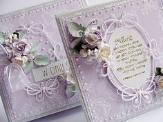 Dorota_mk: Elegant fashionable purple and mint Scrapbooking, Scrapbook Cards, Memory Box Cards, Purple Cards, Shabby Chic Cards, Spellbinders Cards, Anna Griffin Cards, Paint Cards, Beautiful Handmade Cards