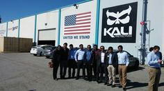 Students visited Kali, a helmet design and manufacturing company.
