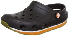 Crocs - Unisex Crocs Retro Clog Shoes, Size: 6 D(M) US Mens / 8 B(M) US Womens, Color: Espresso/Pumpkin