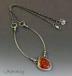 Sterling Silver Necklace Sterling Silver Pendant by LjBjewelry